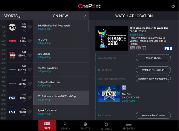 DISH OnePoint App